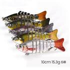 5Pcs 6-Segment Multi Jointed Fishing Lures Fishing Bait Crankbait Hooks Swimbait