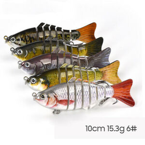 5 Pcs Lifelike Eyes 7 Segment Bionic Bait Treble Hooks Crucian Carp Fishing Lure