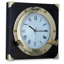 Hublot Avec Horloge Laiton Jaune Brillant Marque Foresti e Suardi FS2082.L