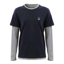 Genuine Maserati Men's Navy Blue Long Sleeve Shirt Extra Large XL 920008092