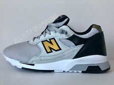 NEW BALANCE 1500 991 MADE IN ENGLAND WHITE/BLACK/GOLD Men's Size 8