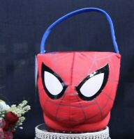 MARVEL SPIDER-MAN Nylon Collapsible Pail HALLOWEEN//EASTER Bucket//Basket NEW!
