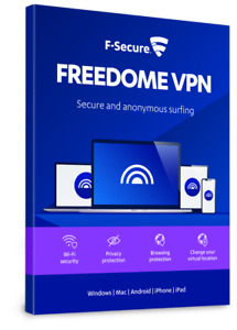 F-SECURE FREEDOME VPN 2021 - PRIVACY WIFI SECURITY - FOR 3 PC DEVICES - Download