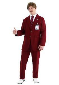 Deluxe Ron Burgundy Suit