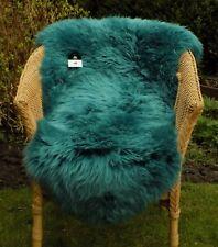 Medium - TURQUOISE Green Blue - 100% GENUINE AUSTRALIAN SHEEPSKIN RUG REAL PELT