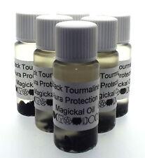 Turmalina Negra Gemas Magia Unción 10ml Aceite Aura Protección