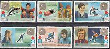 Ras al-Khaima 731 - 736 gestempelt Goldmedaillengewinner Olympische in Sapporo