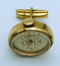 Vintage Sheffield Gold Plated Swiss Made cuff link Mechanical Watch - not runs