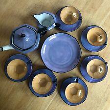 Antique Art Deco Iridiscent MZ Altrohlau Porcelain Tea set Czechoslovakia Unique