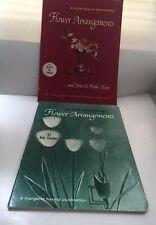 2 Vintage 1959 1966 Flower Arrangement A Margaret Harold Publication Usa