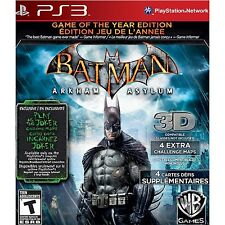 BATMAN: ARKHAM ASYLUM  (GOTY EDITION) (PS 3, 2010) (1088)  **FREE SHIPPING USA**