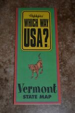 """Highlights Which Way Usa? Vermont State Map """"Vgc"""""""