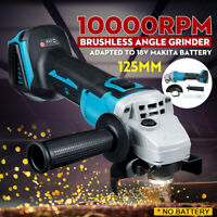 125mm Cordless Brushless Angle Grinder For 18V Makita DGA504Z Li-ion Battery
