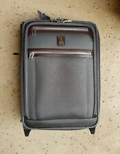 "New! Travelpro 'Platinum Elite' 21"" Gray Carry On Suitcase 409182205 MSRP $299"