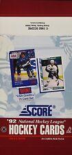 1992 Score NHL Hockey - Empty Display Box - Brian Mullen & Mike Modano on Box
