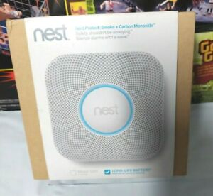 Nest Protect Smoke + Carbon Monoxide in Box S1001BW long life battery