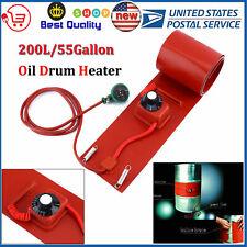 New Barrel 200L/55 Gallon Silicon Band Metal Oil Drum Heater 110V 1000W Us Plug