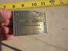 Vintage Aunheuser Busch Budweiser Beer Brass Belt Buckle Lewis Buckles Chicago