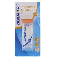 60x Brosse Cure Dents Brossette Interdentaire Dentaire Nettoyage 2en1