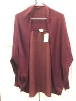 Moth Anthopologie Dark Purple Open Front Cardigan Sweater, Size Small