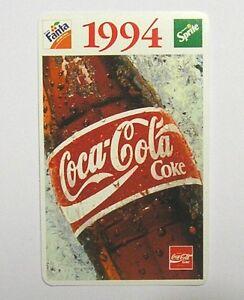 CALENDARIETTO TASCABILE / Pocket Calendar 1994 COCA COLA World Cup Usa (cm 10x6)
