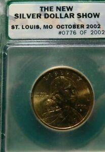 ICG SILVER DOLLAR SHOW ST. LOUIS MO OCT 2002 #0776 OF #2002 COIN!  A721TXX