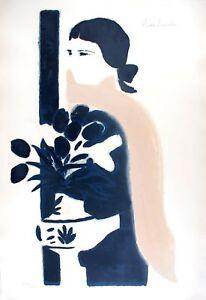Andre BRASILIER s/n Lithography L'Echarpe rose 1970