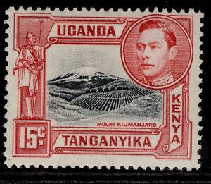 KENYA UGANDA TANGANYIKA GVI SG137a, 15c black & rose-red, VLH MINT.
