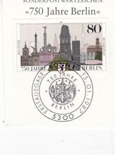 Germany 1991 750th anniversary of Berlin First Day of Issue on Piece Vgc