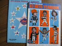 New York Mets 1976 Official Program/Scorecard & 1983 Mets Yearbook