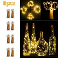 2M 20LED Cork Shape Fairy String Night Light Wine Bottle Lamp Party With Battery