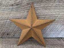 Primitive Metal Barn Star Mustard 5.5 inch Country Rustic Farm Decor