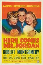 HERE COMES MR. JORDAN Movie POSTER 27x40 D Charles Boyer Margaret Sullavan