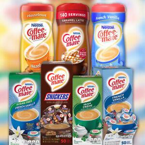 Nestle Coffee Mate Coffee Creamer French Vanilla, Caramel, Hazelnut - Various