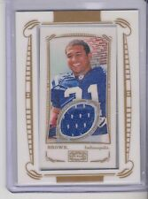 2009 Topps Mayo Donald Brown Framed mini Jersey relics Indianapolis Colts