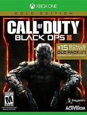 NEW Call of Duty Black Ops III 3 Gold Edition Xbox One 2016 DLC Pack Zombies