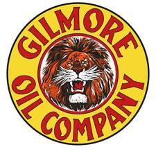 "Vintage Style Metal Sign Gilmore Oil 30"" Round"