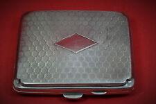 Art Deco sterling silver cigarette case cushion shape J.GLOSTER  Ltd 1924