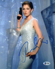 ROSAMUND PIKE SIGNED 8x10 PHOTO DIE ANOTHER DAY JAMES BOND RARE BECKETT BAS