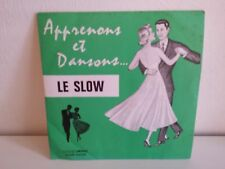 Apprenons et dansons .. le slow  RENE VRANY Disques VRANY RV06
