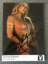 Jenny Elvers  original Playboy Autogramm Foto Erotik Porno Modell Sexy