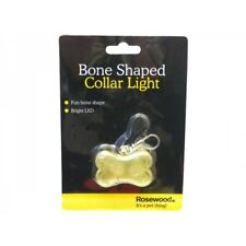 Rosewood Dog Collar LED BONE SHAPED COLLAR LIGHT