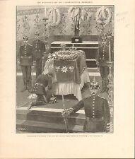 Wilhelm II German Emperor Cronberg Church FRANCE GRAVURE ANTIQUE OLD PRINT 1901