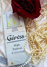 Vintage Giress High Fashion Range Nylon Bridal white Floral Tights One Size