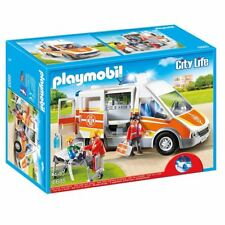 Playmobil 6685 City Life Ambulance with Lights and Sound Toy Vehicle Playset
