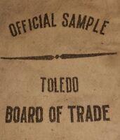 TOLEDO OHIO BOARD OF TRADE chase company OFFICIAL SAMPLE vintage cloth bag RARE!