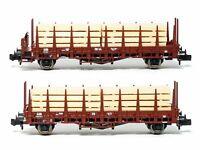Fleischmann 881907 N Gauge DB Stake Wagon with Load Set (2) III