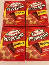 Hormel Pepperoni Original Slices Lot Of 4, 2 Pouch Per Box (1.75 Oz Each)