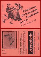 Schweiz 1979 Volksbräuche, Markenheft ERSTTAG-Stempel, Mi 0-72h, SBK 0-72a