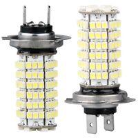 2x(LAMPADA LAMPADINA LUCI H7 120 LED SMD BIANCO PER AUTO HK